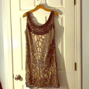Brand New sequins and rhinestones Cachè dress